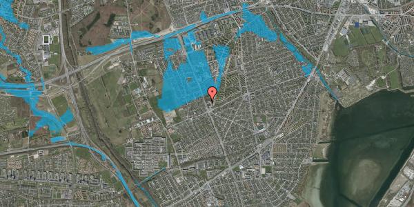 Oversvømmelsesrisiko fra vandløb på Arnold Nielsens Boulevard 130, 1. , 2650 Hvidovre