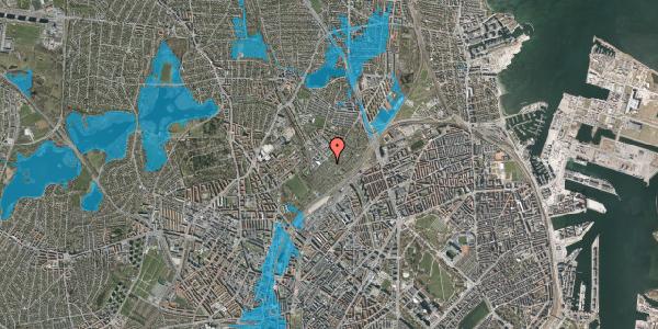 Oversvømmelsesrisiko fra vandløb på Lersø Parkallé 93, 2100 København Ø