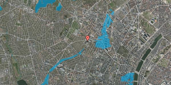 Oversvømmelsesrisiko fra vandløb på Jordbærvej 97, 1. , 2400 København NV