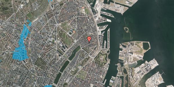 Oversvømmelsesrisiko fra vandløb på Willemoesgade 42B, 2100 København Ø
