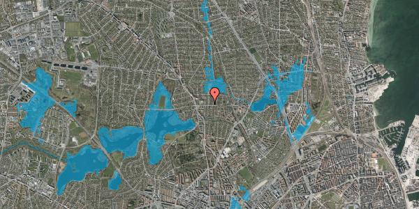 Oversvømmelsesrisiko fra vandløb på Emdrupgårdsvej 2, st. , 2400 København NV