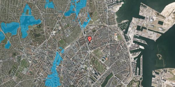 Oversvømmelsesrisiko fra vandløb på Lyngbyvej 34, 3. , 2100 København Ø