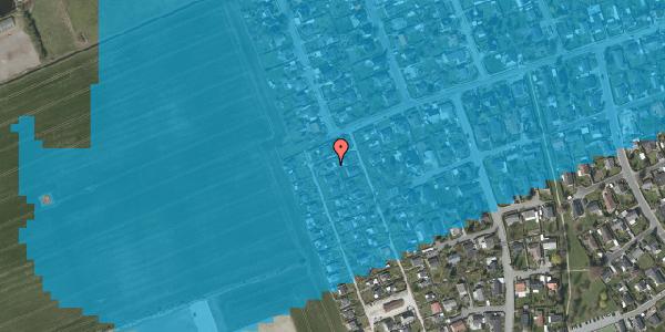 Oversvømmelsesrisiko fra vandløb på Hf. Dahlia 57, 2650 Hvidovre