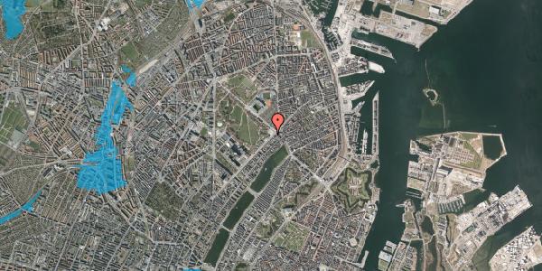 Oversvømmelsesrisiko fra vandløb på Blegdamsvej 35, 2100 København Ø