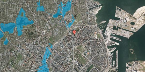 Oversvømmelsesrisiko fra vandløb på Æbeløgade 20, 4. , 2100 København Ø
