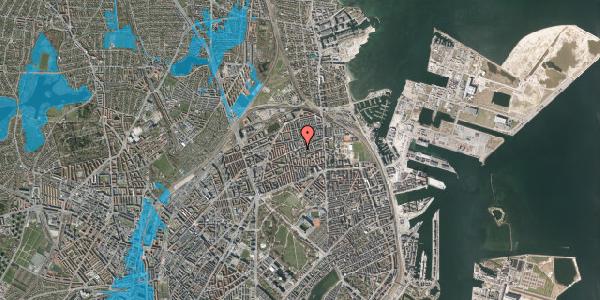 Oversvømmelsesrisiko fra vandløb på Masnedøgade 32, 2. tv, 2100 København Ø