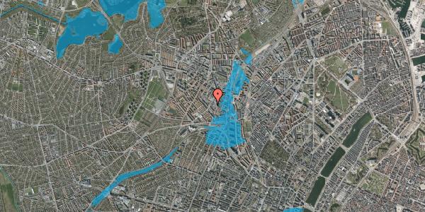 Oversvømmelsesrisiko fra vandløb på Hejrevej 34D, 3. , 2400 København NV