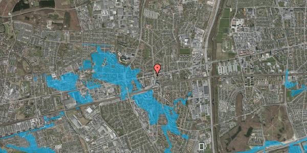 Oversvømmelsesrisiko fra vandløb på Glostrup Shoppingcenter 100, 2600 Glostrup