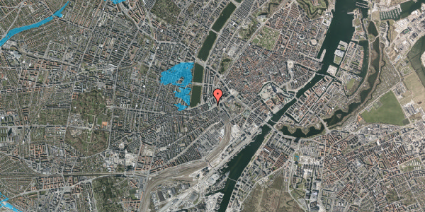 Oversvømmelsesrisiko fra vandløb på Meldahlsgade 2, 7. , 1613 København V