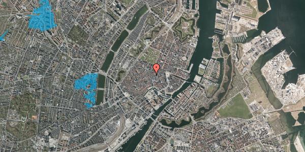 Oversvømmelsesrisiko fra vandløb på Købmagergade 26C, 3. th, 1150 København K