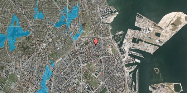 Oversvømmelsesrisiko fra vandløb på Landskronagade 56B, st. mf, 2100 København Ø