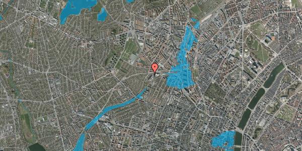 Oversvømmelsesrisiko fra vandløb på Jordbærvej 21, 2400 København NV