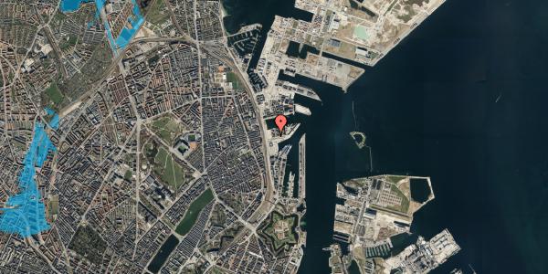 Oversvømmelsesrisiko fra vandløb på Marmorvej 7E, 1. th, 2100 København Ø