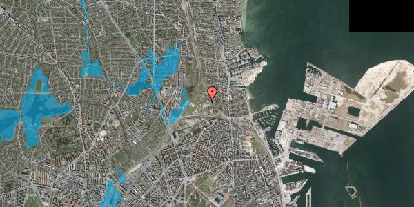 Oversvømmelsesrisiko fra vandløb på Svanemøllens Kaserne 75B, 2100 København Ø