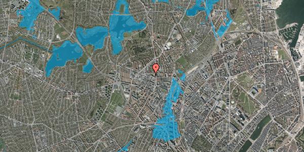 Oversvømmelsesrisiko fra vandløb på Dortheavej 2B, 4. th, 2400 København NV