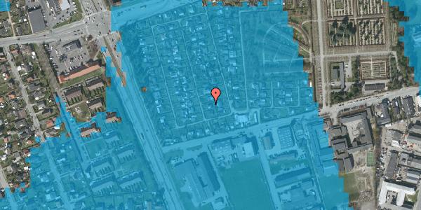 Oversvømmelsesrisiko fra vandløb på Hf. Svarø 44, 2650 Hvidovre