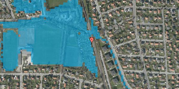 Oversvømmelsesrisiko fra vandløb på Rødhalsgangen 13, 2400 København NV
