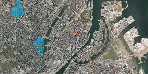 Oversvømmelsesrisiko fra vandløb på Ny Østergade 14, 3. , 1101 København K