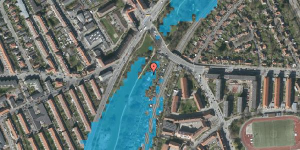 Oversvømmelsesrisiko fra vandløb på Hf. Grænsen 2B, 2000 Frederiksberg