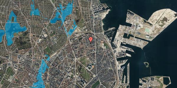 Oversvømmelsesrisiko fra vandløb på Nygårdsvej 30B, 2. , 2100 København Ø
