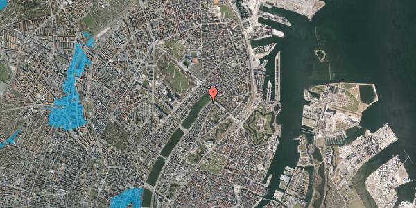 Oversvømmelsesrisiko fra vandløb på Øster Søgade 107, 2100 København Ø