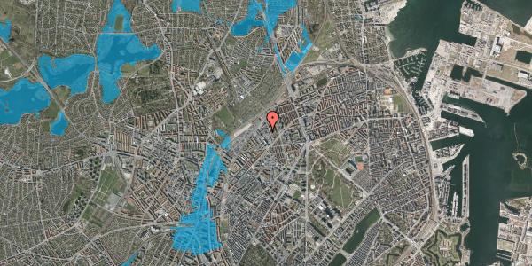Oversvømmelsesrisiko fra vandløb på Ragnhildgade 31, 2100 København Ø