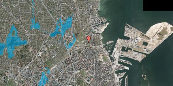 Oversvømmelsesrisiko fra vandløb på Svanemøllens Kaserne 116, 2100 København Ø
