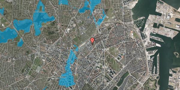 Oversvømmelsesrisiko fra vandløb på Emblasgade 145, 1. tv, 2100 København Ø