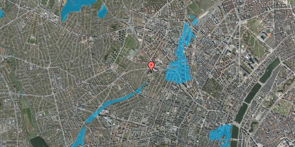 Oversvømmelsesrisiko fra vandløb på Jordbærvej 123, 2400 København NV