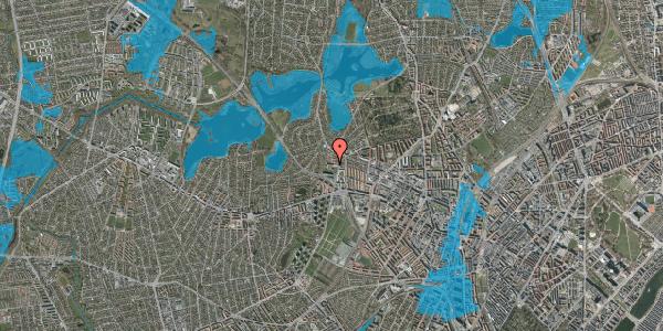 Oversvømmelsesrisiko fra vandløb på Efterslægtsvej 3, 2400 København NV