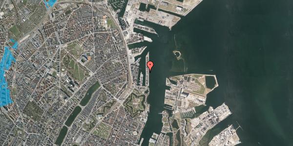 Oversvømmelsesrisiko fra vandløb på Langelinie Allé 29A, 2100 København Ø