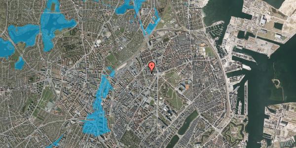 Oversvømmelsesrisiko fra vandløb på Aldersrogade 8B, 2100 København Ø