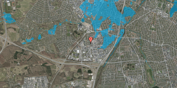 Oversvømmelsesrisiko fra vandløb på Ydergrænsen 53, 2600 Glostrup