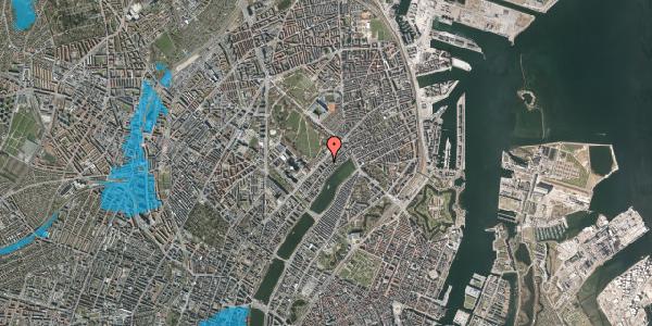 Oversvømmelsesrisiko fra vandløb på Blegdamsvej 104D, 2100 København Ø