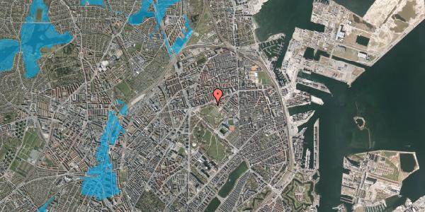 Oversvømmelsesrisiko fra vandløb på Serridslevvej 45, 2100 København Ø