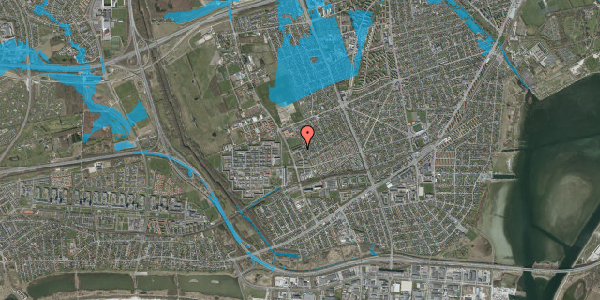 Oversvømmelsesrisiko fra vandløb på Mellemvangsvej 116, 1. th, 2650 Hvidovre