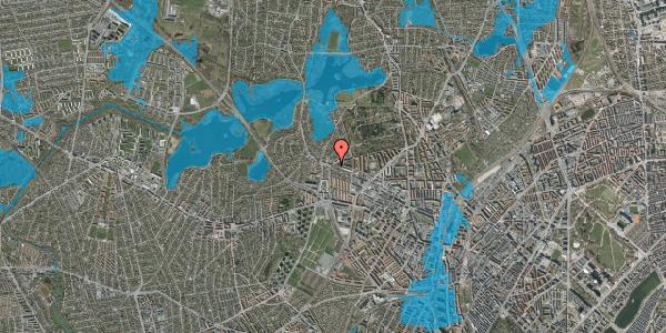 Oversvømmelsesrisiko fra vandløb på Skoleholdervej 91, 1. th, 2400 København NV
