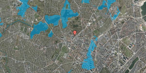 Oversvømmelsesrisiko fra vandløb på Dortheavej 36A, 2400 København NV