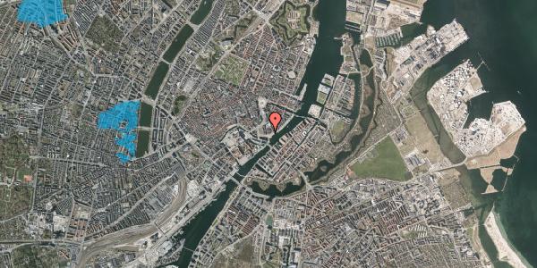 Oversvømmelsesrisiko fra vandløb på Niels Juels Gade 15, 1. th, 1059 København K
