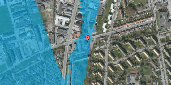 Oversvømmelsesrisiko fra vandløb på Bibliotekvej 49, 2650 Hvidovre