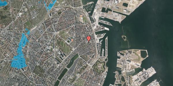 Oversvømmelsesrisiko fra vandløb på Rosenvængets Hovedvej 33, kl. , 2100 København Ø