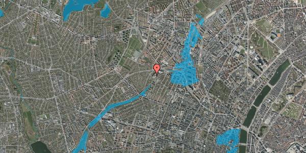 Oversvømmelsesrisiko fra vandløb på Jordbærvej 135, 2400 København NV