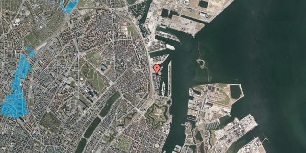 Oversvømmelsesrisiko fra vandløb på Amerika Plads 25E, st. tv, 2100 København Ø