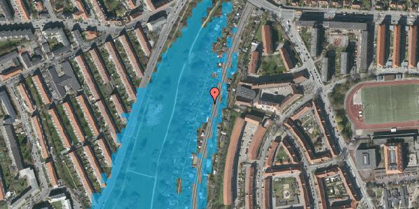 Oversvømmelsesrisiko fra vandløb på Hf. Grænsen 25, 2000 Frederiksberg