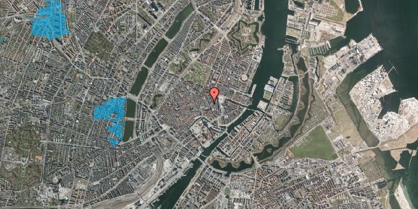 Oversvømmelsesrisiko fra vandløb på Kristen Bernikows Gade 1, st. , 1105 København K