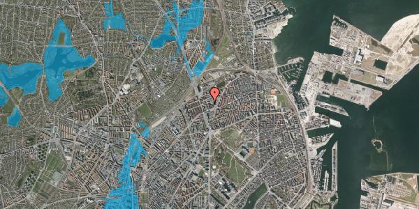 Oversvømmelsesrisiko fra vandløb på Æbeløgade 7, 2100 København Ø