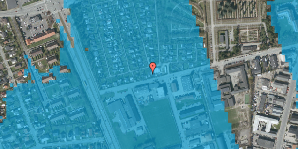 Oversvømmelsesrisiko fra vandløb på Hf. Svarø 3, 2650 Hvidovre