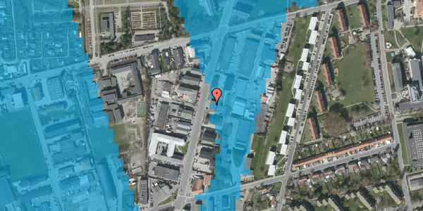 Oversvømmelsesrisiko fra vandløb på Arnold Nielsens Boulevard 69, 2650 Hvidovre