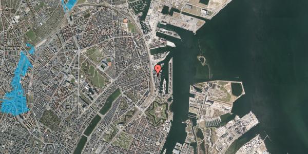 Oversvømmelsesrisiko fra vandløb på Amerika Plads 17, st. , 2100 København Ø
