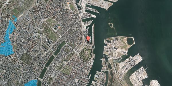 Oversvømmelsesrisiko fra vandløb på Dampfærgevej 2A, st. , 2100 København Ø